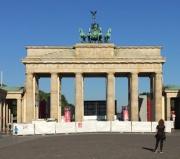 Berlin porte de Brandebourg près de l'ancien mur